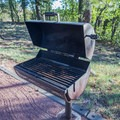 Each campsite contains a very nice grill.- Rock Crossings Campground