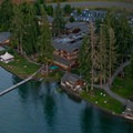 Aerial view of Alderbrook Resort and Spa.- Alderbrook Resort + Spa
