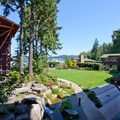 The Alderbrook courtyard.- Alderbrook Resort + Spa