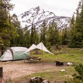 A few sites have mountain views.- Jenny Lake Campground