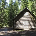The structure at the entrance to the camp.- Joe Graham Horse Camp