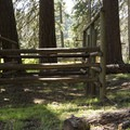 One of the horse stalls, available at every site.- Joe Graham Horse Camp