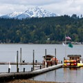 The Alderbrook dock.- Alderbrook Resort + Spa