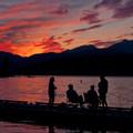 Sunset at Alderbrook.- Alderbrook Resort + Spa