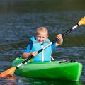 Kayaking is offered at the Waterfront Center.- Alderbrook Resort + Spa