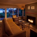 A cottage living room.- Alderbrook Resort + Spa