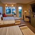 A garden-view room.- Alderbrook Resort + Spa