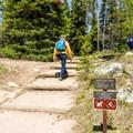 Heading out to Leigh Lake.- Leigh Lake Trail