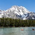 Mount Moran from String Lake.- Leigh Lake Trail