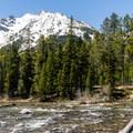The inlet of String Lake.- Leigh Lake Trail