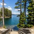 Leigh Lake.- Leigh Lake Trail