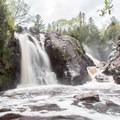Gabbro Falls from the bottom.- Gabbro Falls