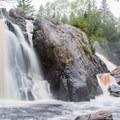 Gabbro Falls during high water.- Gabbro Falls