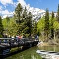The bridge to the boat dock.- Jenny Lake Boat Tour