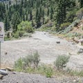 Trail access at the end of the Floriston Trail.- Tahoe-Pyramid Bikeway: Farad to Floriston