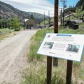 Informational signage for the historical powerhouse that sits near the Farad parking area.- Tahoe-Pyramid Bikeway: Farad to Floriston