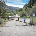 Trail access immediately beside the parking area at the Farad Interstate 80 offramp.- Tahoe-Pyramid Bikeway: Farad to Floriston