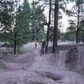 A few fun jumps near the lower parking area.- Schultz Creek Trail
