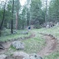 Flowy berms make for a fast and fun ride.- Schultz Creek Trail