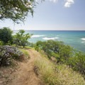 View west from the top of Kuilei Cliffs Beach Park.- Kuilei Cliffs Beach Park