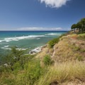 View east from the top of Kuilei Cliffs Beach Park.- Kuilei Cliffs Beach Park