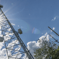 Passing a radio tower along the route.- The Long Path: Gonzaga Park to Schunemunk State Park