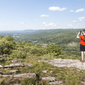 Looking north over the Hudson Valley.- The Long Path: Gonzaga Park to Schunemunk State Park