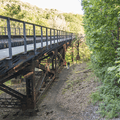 Close to the endpoint under the trestle.- The Long Path: Gonzaga Park to Schunemunk State Park