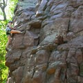 Navigating a fun, short route at Devil's Lake.- Stettner's Rocks