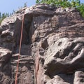 Top-roping at Devil's Lake State Park.- Stettner's Rocks