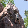 Nearing the top at Devil's Lake State Park.- Stettner's Rocks