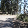 The entrance to Lava Flow Campground.- Lava Flow Campground