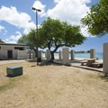 Restroom facilities at Ala Moana Beach Park.- Ala Moana Beach Park