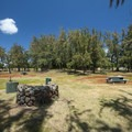 Camping area at Sand Island State Recreation Area.- Sand Island State Recreation Area Campground
