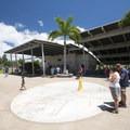 The public plaza at Pearl Harbor Historic Sites.- Pearl Harbor Historic Sites