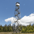 The fire tower sits at the top of the second tallest peak in the Catskills, Hunter Mountain (4,039 ft).- Colonel's Chair + Fire Tower