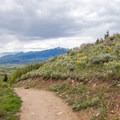 Catch a nice view of the Bridgers to the north.- Triple Tree Trail
