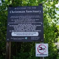 Restrictions for the area.- Christman Sanctuary