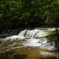 Another of the 12 total waterfalls that can be seen along the blue trail.- Christman Sanctuary
