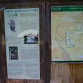 Information and the map at the trailhead.- Christman Sanctuary