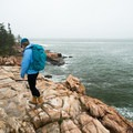 The rocky headland at the end of the trail.- Ship Harbor Trail