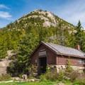Chocorua towering over the cabin. - Mount Chocorua via Liberty Trail