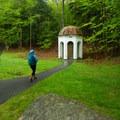 Walking toward the Sieur de Monts Spring.- Sieur de Monts Nature Center + Wild Gardens