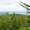 Initial views.- Beech Mountain Fire Tower