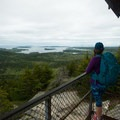 Views from the fire tower's steps.- Beech Mountain Fire Tower