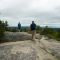 Exploring the ridge south of the fire tower.- Beech Mountain Fire Tower