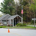 The ranger station at the entrance to Acadia National Park.- Blackwoods Campround