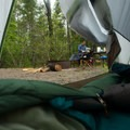 The best views of camp on a cold morning are from a warm sleeping bag.- Blackwoods Campround