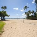 Volleyball court at Fort DeRussy Beach Park.- Fort DeRussy Beach Park