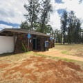 Restrooms and the shower facility at Kaiaka Bay Beach Park and campground.- Kaiaka Bay Beach Park + Campground